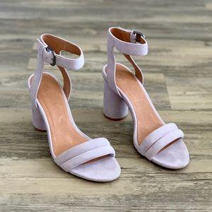 Madewell Rosalie Lilac Lavender Sandal Heels 8